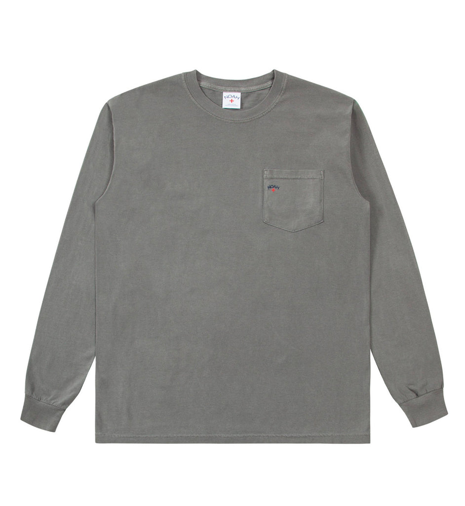 Noah Long Sleeve Pocket Tee (Grey)