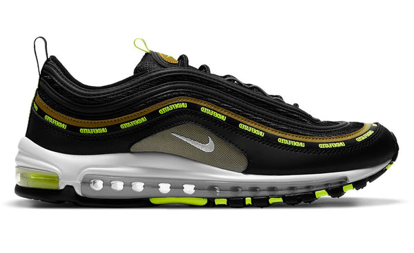 Nike x undefeated air max 97 black / volt