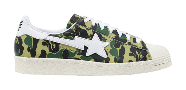 Adidas superstar x Bape green camo