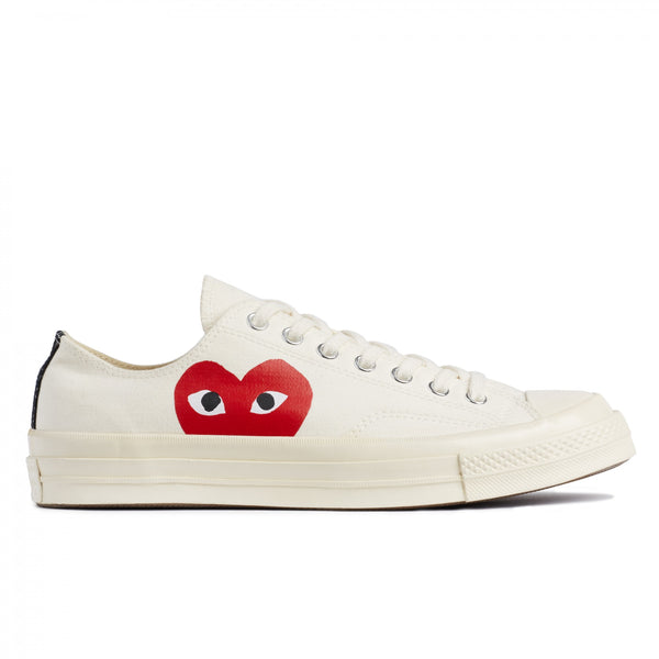 CONVERSE 1970 X CDG PLAY WHITE LOW