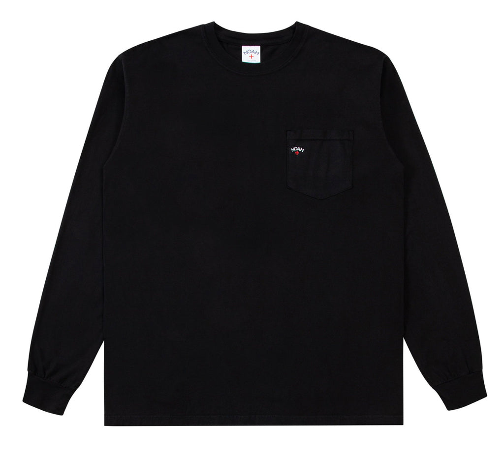 Noah Long Sleeve Pocket Tee (Black)