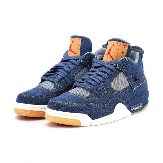 Nike X Levis air jordan 4 blue denim