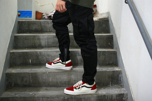 "ANSA Cargo Pants ""Black"""