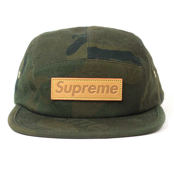 LOUIS VUITTON X SUPREME CAMO CAMP CAP