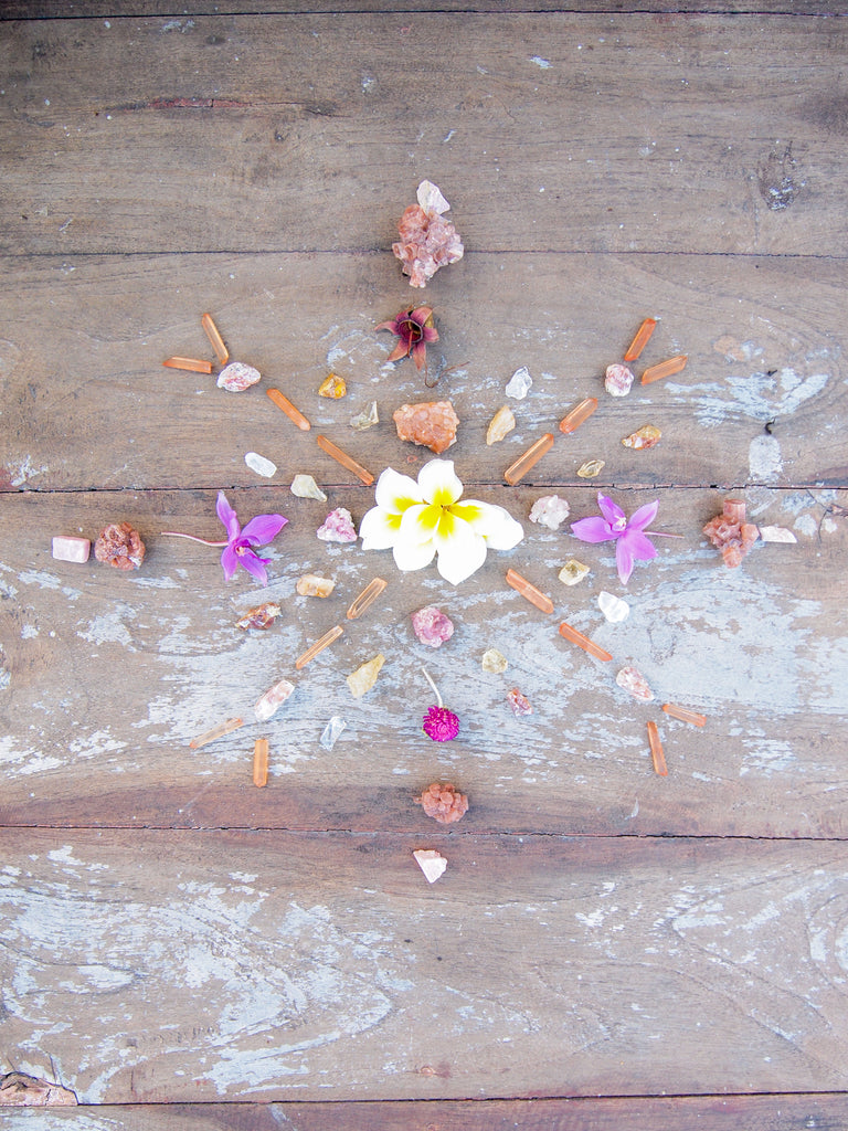 Crystal Grid Flower Art