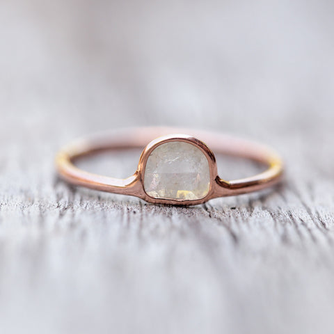 Wild Romance // Diamond Slice Ring in Rose Gold