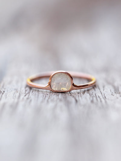 Wild Romance // Diamond Slice Ring in Rose Gold - Gardens of the Sun Jewelry
