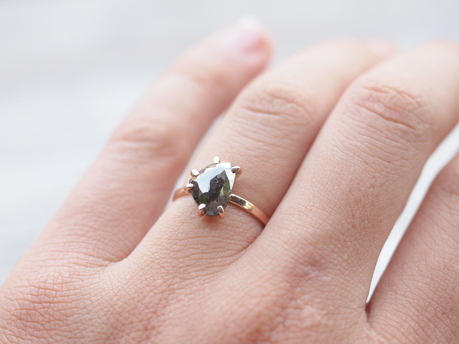 Salt and Pepper Diamond Engagement Ring | Build Your Own - Gardens ...