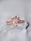 Custom Champagne Diamond Nesting Ring - Gardens of the Sun Jewelry