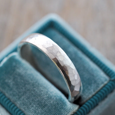 Faceted Wedding Band in Silver - Gardens of the Sun Jewelry
