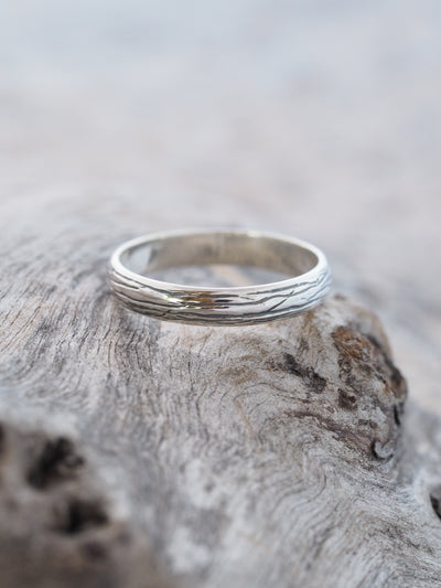 Lines Wedding Band in Silver - Gardens of the Sun Jewelry