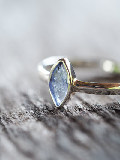 Freeform Iolite Ring - Gardens of the Sun Jewelry