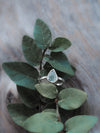 Aquamarine Leaf Ring - Gardens of the Sun Jewelry