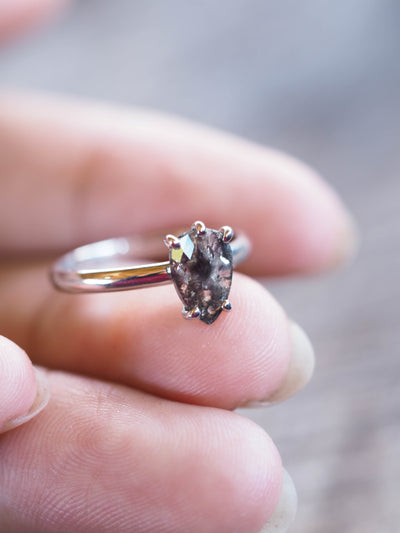 Rose Cut Pear Diamond Ring | Build Your Own