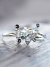 AA White Topaz and Sapphire Ring - Gardens of the Sun Jewelry