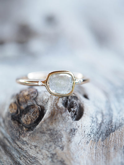 Grey Diamond Slice Ring | Build Your Own