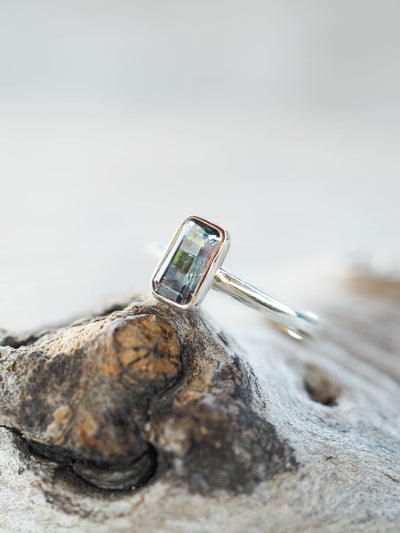 Embrace Octagon Fluorite Ring - Gardens of the Sun Jewelry