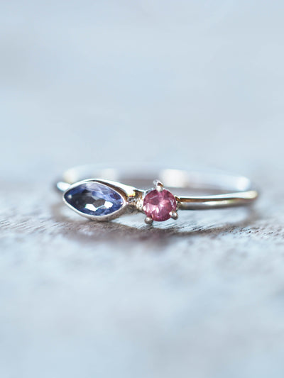 AA ANNISA Tanzanite and Garnet Ring - Gardens of the Sun Jewelry