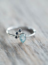 Aquamarine and Blue Sapphire Ring - Gardens of the Sun Jewelry