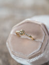 AA Old Mine Cut Borneo Diamond Ring in Yellow Gold - Gardens of the Sun Jewelry