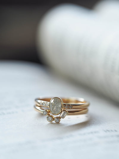 Canadian Grey Diamond Ring Set - Gardens of the Sun Jewelry