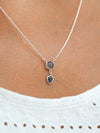 AA Labradorite and Ceylon Sapphire Necklace - Gardens of the Sun Jewelry