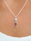 AA Opal and Tourmaline Leaf Necklace - Gardens of the Sun Jewelry