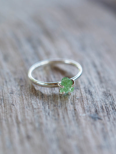 Merelani Mint Garnet Ring
