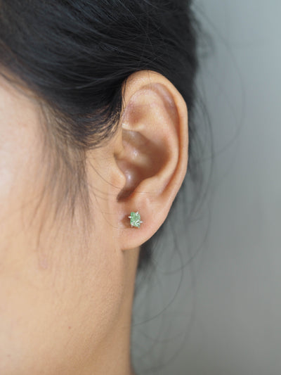 Merelani Mint Garnet Earrings