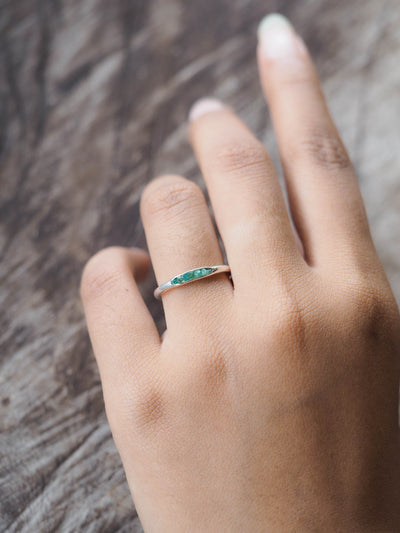 Emerald Ring with Hidden Gems
