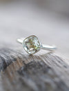 AA Meri Green Amethyst Ring // Embrace - Gardens of the Sun Jewelry