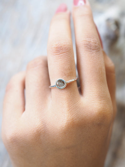 Flawed Diamond Slice Ring - Gardens of the Sun Jewelry