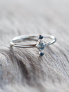 AA Mermaid Aquamarine and Blue Sapphire Ring - Gardens of the Sun Jewelry