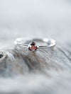 Rose Cut Garnet Ring
