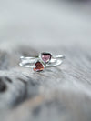 AA Rose Cut Garnet Ring - Gardens of the Sun Jewelry