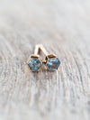AA Montana Sapphire Earrings in Rose Gold - Gardens of the Sun Jewelry