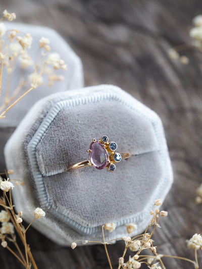 AA Sapphire Ring in Gold - Gardens of the Sun Jewelry