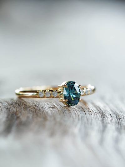 AA Sapphire and Diamond Ring in gold - Gardens of the Sun Jewelry