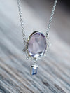 Amethyst and Tanzanite Necklace - Gardens of the Sun Jewelry
