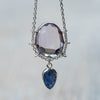 Amethyst and Ceylon Sapphire Necklace - Gardens of the Sun Jewelry
