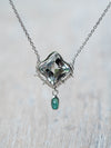 AA Prasiolite and Iolite Necklace - Gardens of the Sun Jewelry