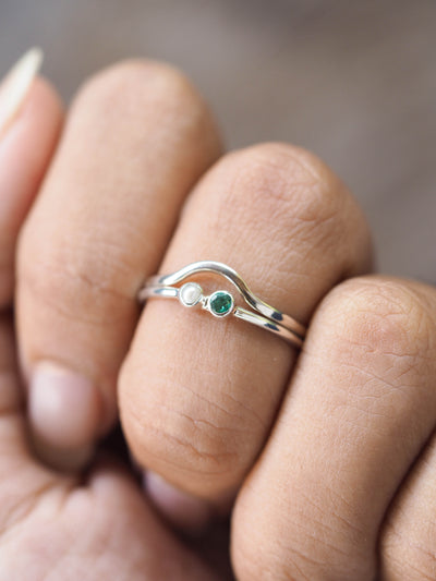 Pearl and Emerald Ring