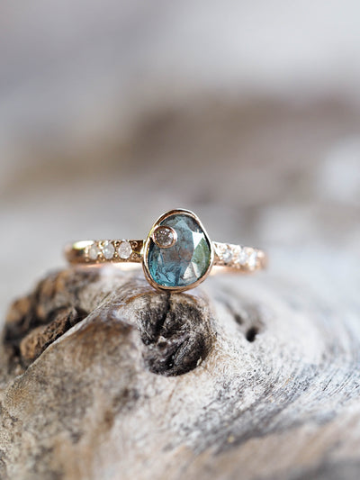 Blue Diamond Slice Ring | Build Your Own - Gardens of the Sun Jewelry
