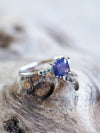 AA Ceylon Sapphire Ring in White Gold - Gardens of the Sun Jewelry