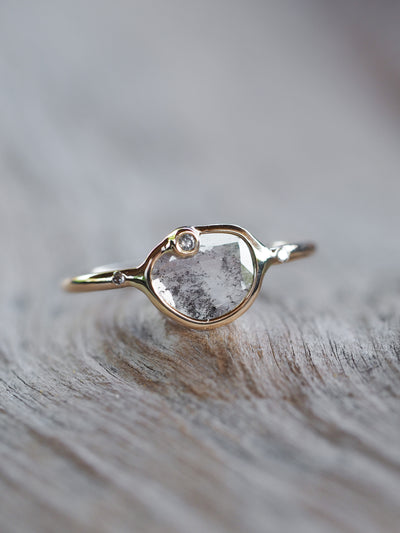AA MERI Satellite Diamond Slice Ring - Gardens of the Sun Jewelry
