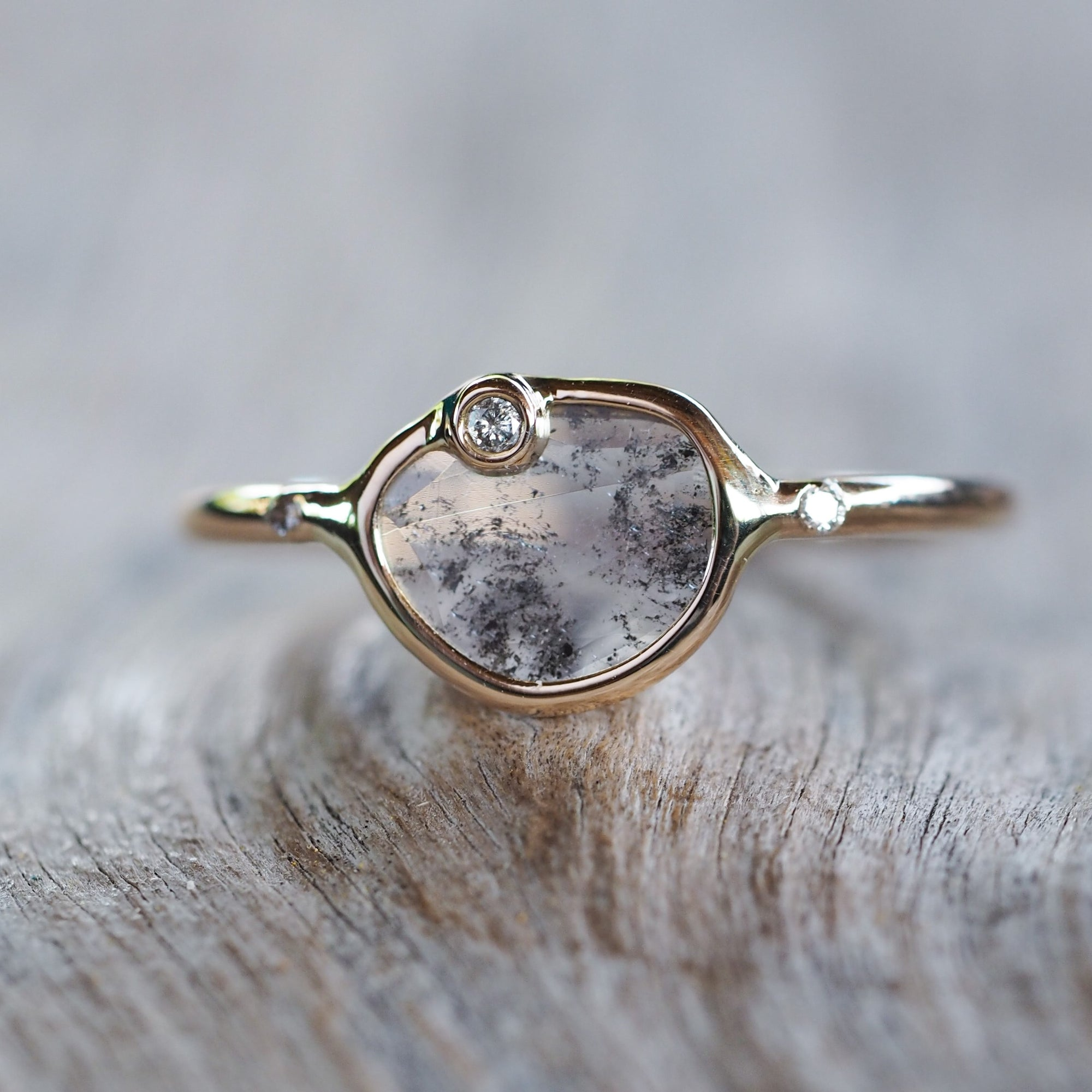 Satellite Diamond Slice Ring