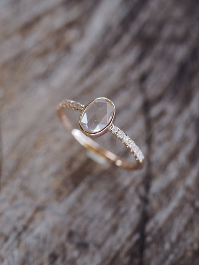Rose Cut Morganite and Diamond Ring | Build Your Own