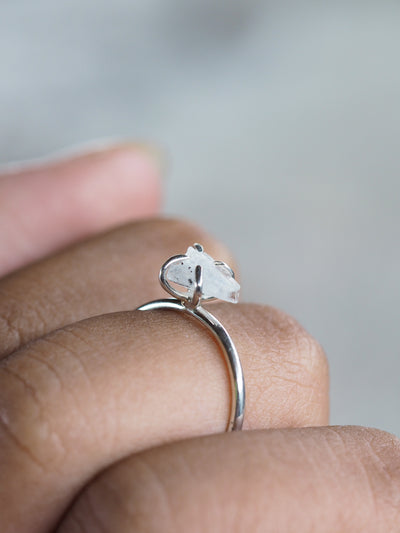 Rough Moonstone Ring