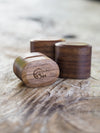 AA Vintage Oval Wooden Ring Box in Walnut - Gardens of the Sun Jewelry