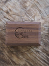AA Double Wedder Ring Box in Walnut - Gardens of the Sun Jewelry
